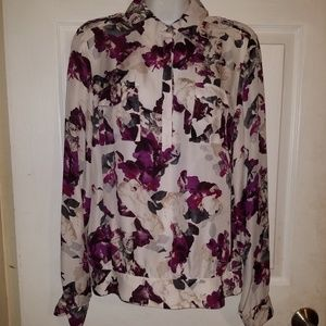 White House Black Market Blouse Silk